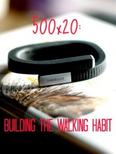 Building the Walking Habit: How I walk five miles a day, 500 steps at a time.